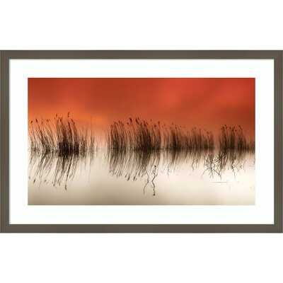 Serene Sea Grass by Rui David - Picture Frame Painting Print on Paper - AllModern