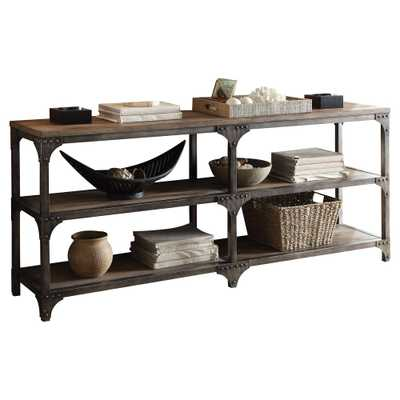 Console Table Weathered Oak, Brown - Target