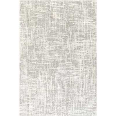 Baucom Abstract Light Gray/Ivory Area Rug - Wayfair