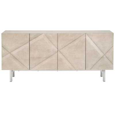 Maurice Modern Classic Natural Grey Ash Veneer Sideboard - Kathy Kuo Home