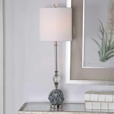 Elody Blue Gray Buffet Lamp - Hudsonhill Foundry