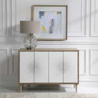 Dani 4 Door White Cabinet - Hudsonhill Foundry