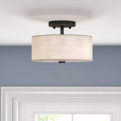 Paquette 2 - Light Shaded Drum Semi Flush Mount - Wayfair