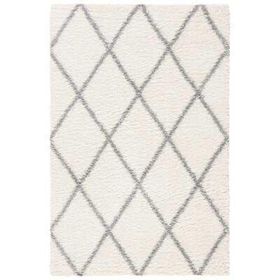 """Dubay Cream/Gray Area Rug,  9''x12'', 1.2"""" Pile Height - Wayfair"""