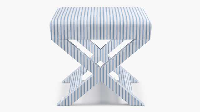 X Bench | Cornflower Classic Ticking Stripe - The Inside