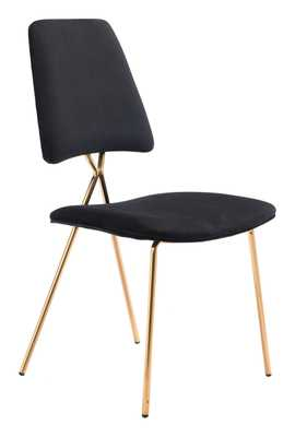 Chloe Dining Chair (Set of 2) Black & Gold - Zuri Studios
