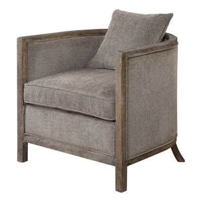 Viaggio Gray Chenille Accent Chair - Hudsonhill Foundry