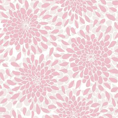 RoomMates 28.18 sq.ft. Toss The Bouquet Peel and Stick Wallpaper, Pink - Home Depot
