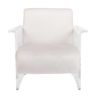 Lefevre Acrylic Club Chair Upholstery Color: Light Gray - Perigold