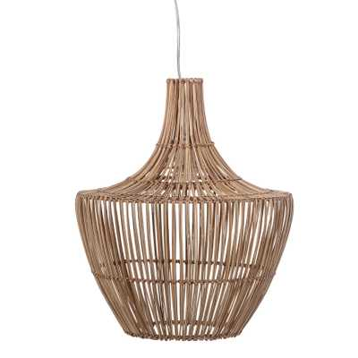 Round Wicker Pendant Light - Moss & Wilder