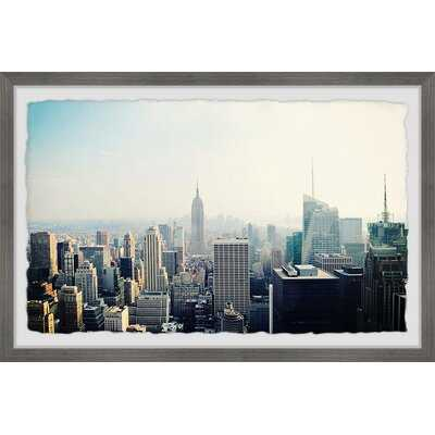 'At the Top of the City' Picture Frame Photograph Print on Paper, 24x36 - Wayfair