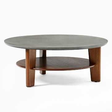 Dakota Coffee Table, Walnut, Concrete - West Elm