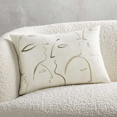 """18""""x12"""" Silhouette Pillow with Down-Alternative Insert - CB2"""