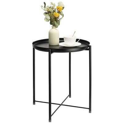 Side Table Round Metal Outdoor Indoor - Wayfair