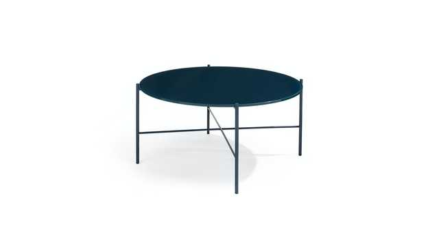 Silicus Navy Round Coffee Table - Article