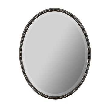 Antique Oval Mirror, Silver - West Elm