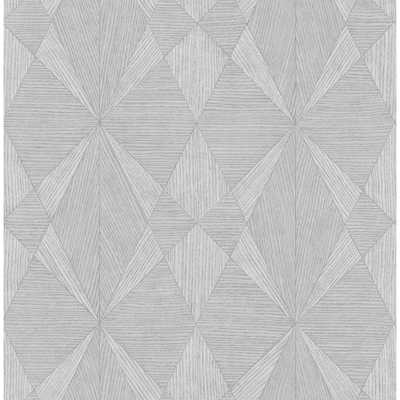 Decorline 56.4 Sq. Ft. Intrinsic Grey Textured Geometric Wallpaper - Home Depot