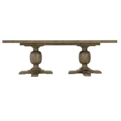 Bernhardt Rustic Patina Extendable Dining Table Color: Peppercorn - Perigold