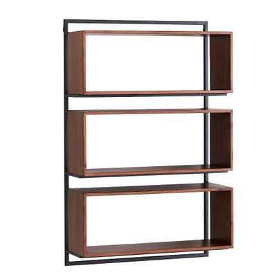 Modern Wall Bookcase, Natural/Black - Pottery Barn Teen