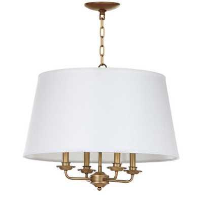 Safavieh Kimball 4-Light Gold/White Pendant - Home Depot