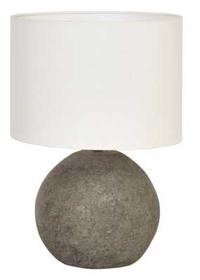 Terracotta Table Lamp with Canvas Shade & Distressed Finish - Nomad Home