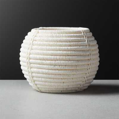 Rimini Ivory Basket Planter - CB2