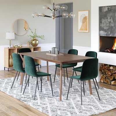 Derry Velvet Upholstered Dining Chair (set of 2) - Wayfair