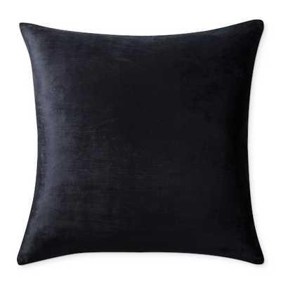 """Solid Velvet Pillow Cover, 22"""" x 22"""", Black - Williams Sonoma"""