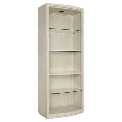 Alice Modern Classic Open Glass Shelf China Cabinet - Kathy Kuo Home