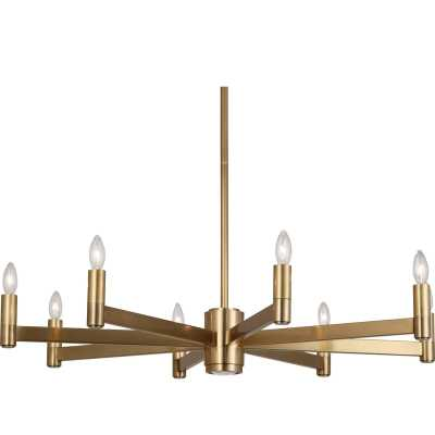 Robert Abbey 9 - Light Candle Style Classic / Traditional Chandelier Finish: Brass - Perigold