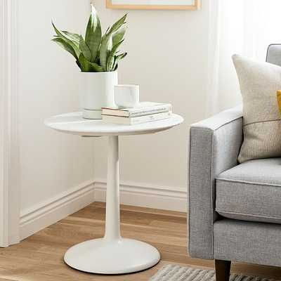 Liv Side Table, Marble & White - West Elm
