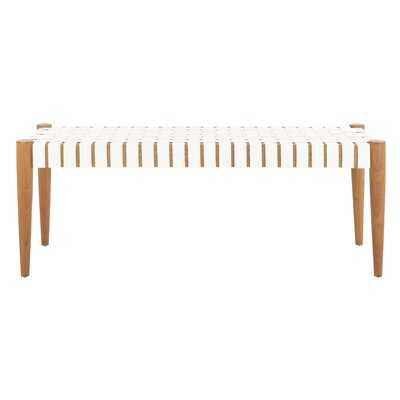 Soleil Genuine Leather Bench - Wayfair