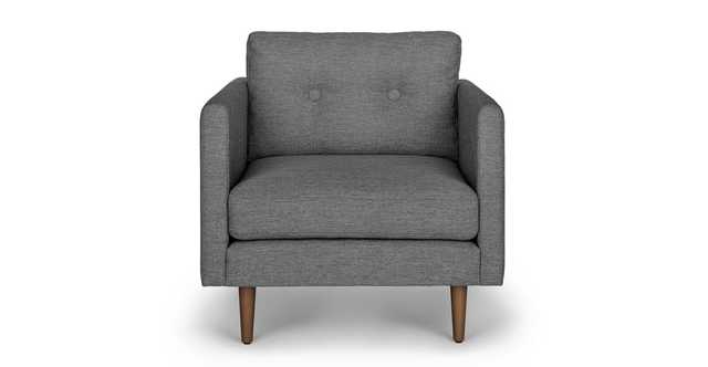 Anton Gravel Gray Lounge Chair - Article