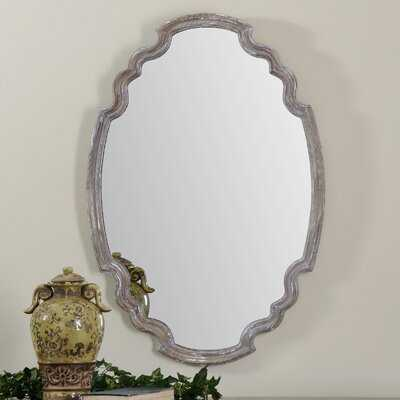 Distressed Wood Accent Mirror - Wayfair