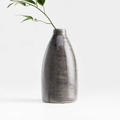 Patine Grey Bud Vase - Crate and Barrel
