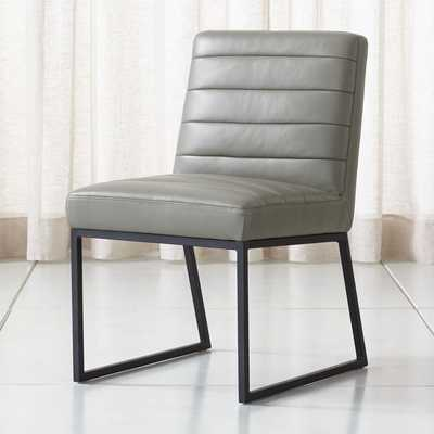 Channel Leather Side Chair - Crate and Barrel