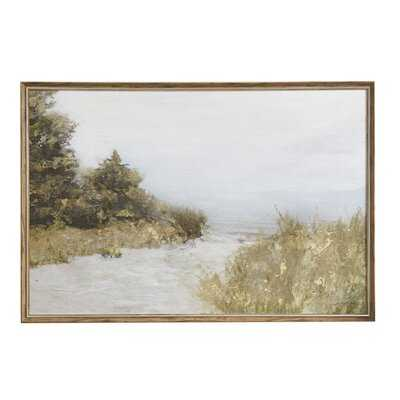 Lake Walk Picture Frame Graphic Art Print on Canvas - Wayfair