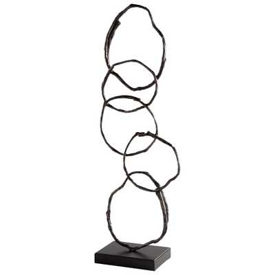 Inner Circles Sculpture - Onyx Rowe