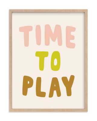 Time To Play Children's Art Print - Minted
