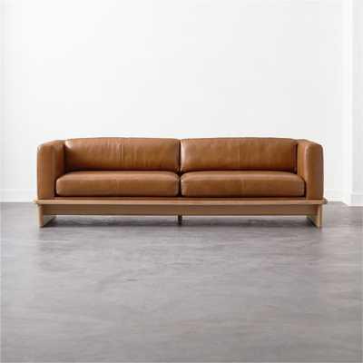 Tablon Saddle Leather Sofa - CB2