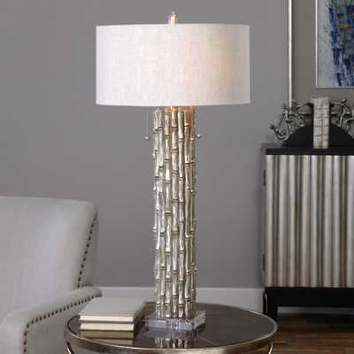 Silver Bamboo Table Lamp - Hudsonhill Foundry