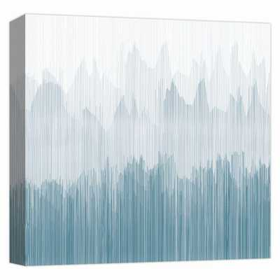 PTM Images ''Teal Streaks 2'' By Canvas Abstract Wall Art 15 in. x 15 in., Multicolored - Home Depot