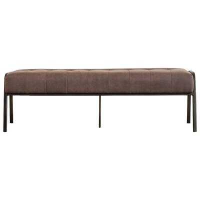 Madeleine Faux Leather Bench - AllModern