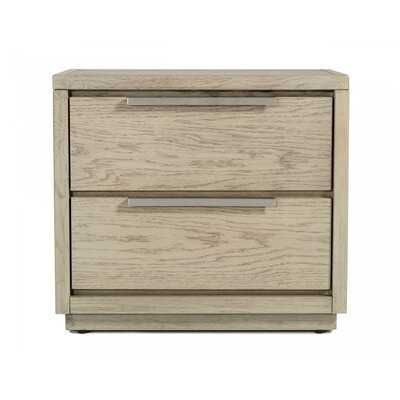 Deitra 2 - Drawer Nightstand in Gray - Wayfair