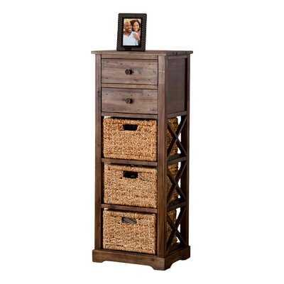 Stimson 2 Drawer Storage Chest 3 Basket Storage Tower - Wayfair
