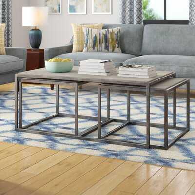 Antonio 3 Piece Nested Coffee Table Set - Wayfair