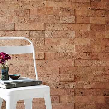 Muratto Cork Wall Covering, 20' sq., Natural - West Elm