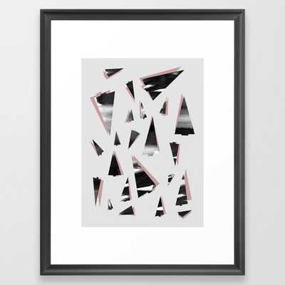 80s Trees Framed Art Print by Mareike BaPhmer - Scoop Black - MEDIUM (Gallery)-20x26 - Society6