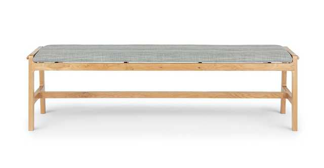 Kirun Pebble Gray Oak Bench - Article