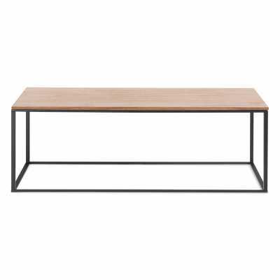 Blu Dot Minimalista Coffee Table Table Base Color: Black, Table Top Color: Walnut - Perigold